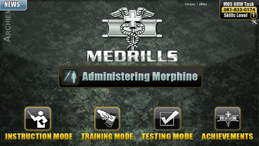Medrills: Army Admin Morphine
