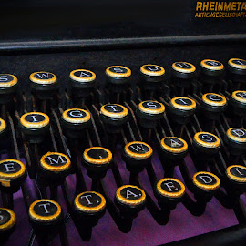 Chose A Letter by Marco Bertamé - Artistic Objects Business Objects ( signs, keyboard, typewriter, keys, vintage, rheinmetall borsig, letters, antique )