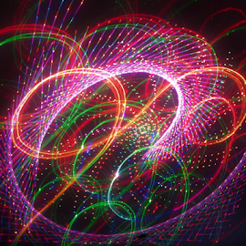 Laser whip ! by Jim Barton - Abstract Patterns ( laser light, colorful, light design, laser design, laser, laser whip, laser light show, light, science )