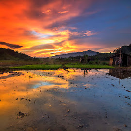 Golden n blue by Susanto Tjhia II - Landscapes Sunsets & Sunrises