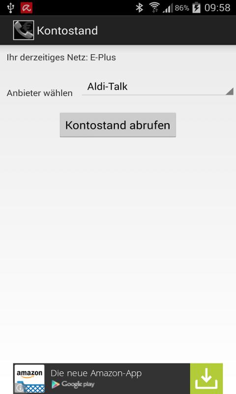 app store kontostand