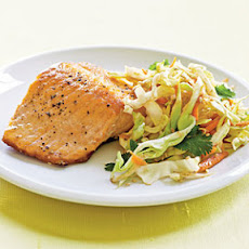 Crispy Skin Salmon with Fiery Asian Slaw