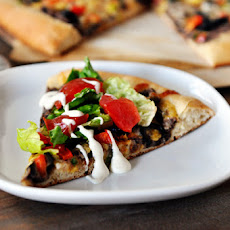 Black Bean Pizza with Whole Wheat Crust