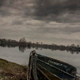 boat alone by Drago Gatolin - Landscapes Beaches