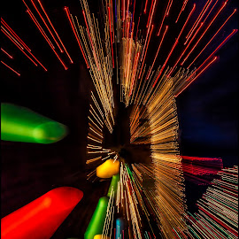 Too Much Egg Nog! by Lee Jorgensen - Abstract Light Painting ( light painting, abstrac, holiday lights, night shooting, christmas, Lighting, moods, mood lighting )