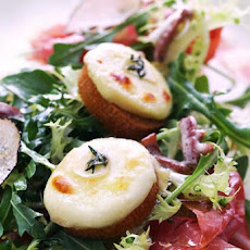 Prosciutto and Crottin Cheese Salad Recipe
