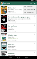 Screenshot of Book Tracker