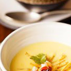 Mexican Creamy Corn Soup with Roasted Chiles