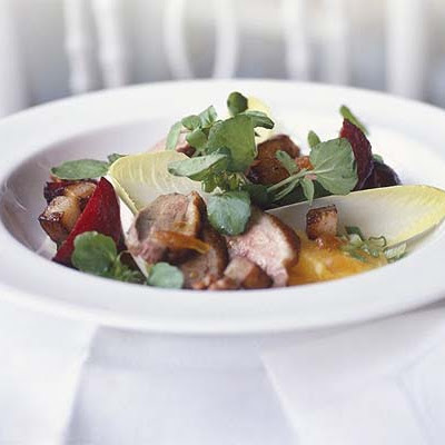 Warm Duck Salad With Walnut & Orange Dressing
