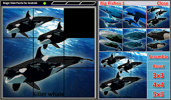 Screenshot of Magic Slide Puzzle B Fishes 1