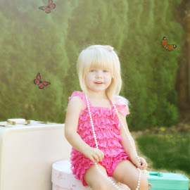 fairy tale  by Tristen Leck - Babies & Children Child Portraits ( butterfly, girl, vintage, fairytale, photography )