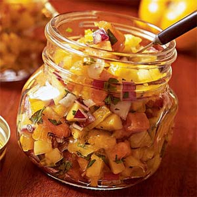 Tropical Yellow Tomato Salsa