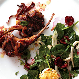 Lamb Rib Chops with Quick Cherry Pan Sauce