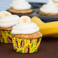 Simple Banana Cupcakes with Sour Cream Frosting