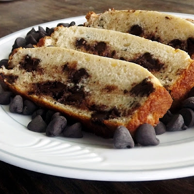 GF Chocolate Chip Vanilla Ice Cream Bread