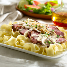 Sliced Sirloin With Stroganoff Sauce