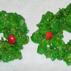 Christmas Holly Wreath Clusters