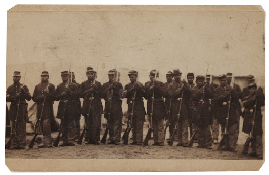 "More than 186,000 African Americans—including 94,000 former slaves from Confederate states—ultimately served in the Union Army.  Learn more about the Civil War and Reconstruction <a href=""http://www.gilderlehrman.org/history-by-era/essays/civil-war-and-reconstruction-1861-1877"">here</a>."