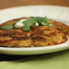 Cilantro Chicken Milanese with Raita