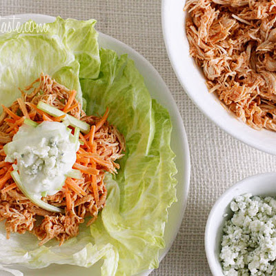 Crock Pot Buffalo Chicken Lettuce Wraps