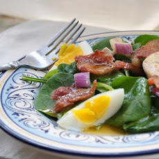 Wilted Spinach and Avocado Salad With Warm Bacon Dressing