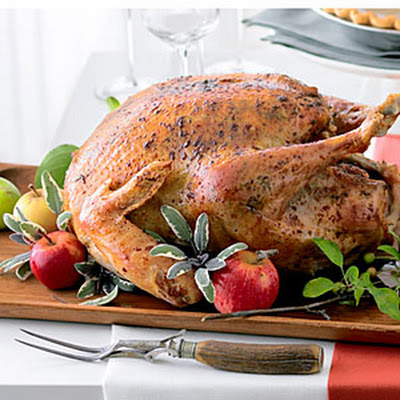Roast Turkey with Sage Garlic Butter