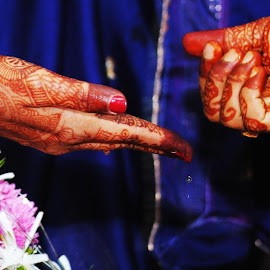 Happy ever after by Martina Pinto - People Couples ( #couple, #hands, #indian, #india, #mehndi, #wedding, #people )