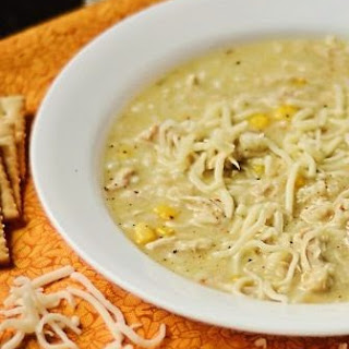 Creamy Green Chile Enchilada Soup