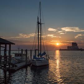 Biloxi Schooner by Ron Maxie - Transportation Boats
