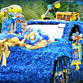 Parade Truck by Linda Blevins - Transportation Automobiles ( truck, ribbon, bows, balloons, flowers )