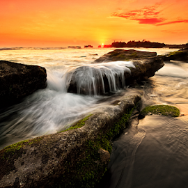 leller by Raung Binaia - Landscapes Beaches ( bali, waterscape, sunset, beach, rocks )