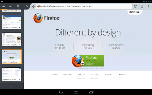 firefox-browser-for-android for android screenshot