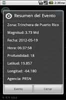 Screenshot of Red Sismica de Puerto Rico