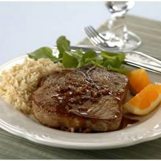 Braised Pork Chops with Orange-Mustard Sauce