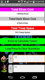 Clash Troop Calculator - screenshot
