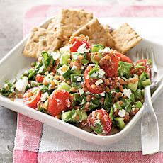 Wheat Berry Salad with Goat Cheese