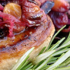 Roasted Grape and Onion Pork Chops