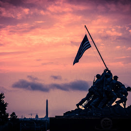 Iwo Jima memorial by Joe Adams - Buildings & Architecture Statues & Monuments ( arlington, dc, lincoln, iwo jima, washington dc, sunrise, capitol )