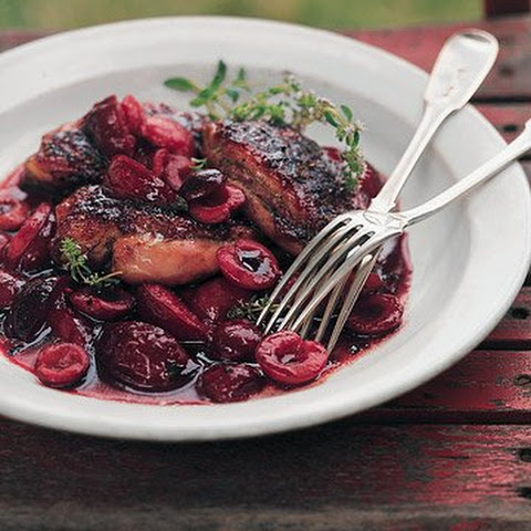 Grilled Duck Breasts with Cherry Plum Sauce