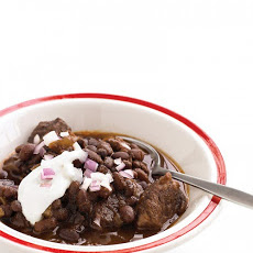 Slow-Cooker Beef and Black-Bean Chili