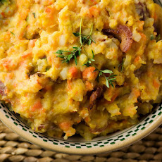 Mashed Fall Vegetables with Bacon and Thyme