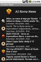 Screenshot of zNews - ASRoma