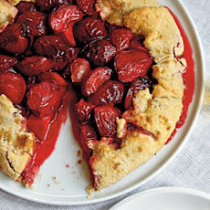 Plum Galette with Armagnac Cream