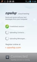 Screenshot of Zipwhip Phone Sync