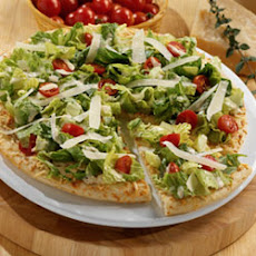 Chopped Caesar Salad on Pizza Crust