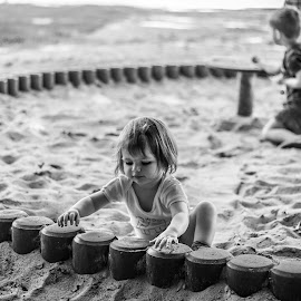 Sand Playing 3 by Laurent Adien - Babies & Children Toddlers