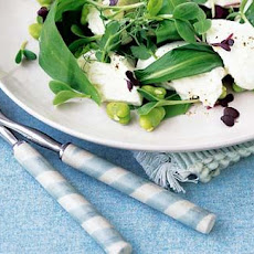 Buffalo Mozzarella With Broad Bean Salad