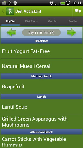 diet-assistant-weight-loss for android screenshot