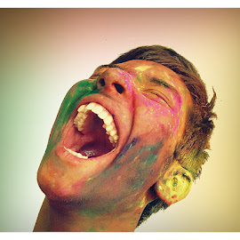 My Happy brother by Suvankar Roy - People Body Art/Tattoos ( color, happiness, boy,  )