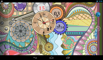 Screenshot of Glass Clock Live Wallpaper PRO